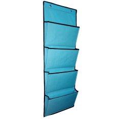 D'Organizer - Rak Majalah Buku Koran Magazine Holder Organizer File Storage Rack Mail Wall Mount - Biru