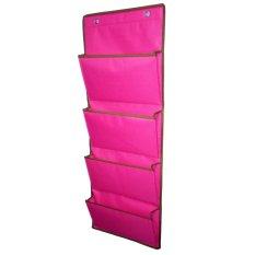 D'Organizer - Rak Majalah Buku Koran Magazine Holder Organizer File Storage Rack Mail Wall Mount - Pink
