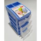 Beli Dos Container Susun Meja Kantor 4 Laci Plastik Dengan Penutup Bagian Atas Dos Dengan Harga Terjangkau