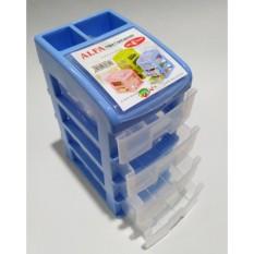 DOS Container Susun / Meja kantor 4 laci Plastik dengan penutup bagian atas