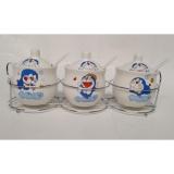 Jual Dos Rak Bumbu Keramik Set Isi 3 Doraemon Murah Jawa Timur