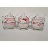 Jual Dos Rak Bumbu Keramik Set Isi 3 Motif Hello Kitty Di Bawah Harga