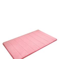 DOTEC Simple Design Memory Foam Bath Mat Lembut Hangat dan Kuat Anti-slip Mat Di Kamar Tidur Kamar Mandi Stripes 40*60 Cm-Pink-Intl