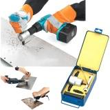 Harga Double Head Lembaran Logam Pemotong Nibbler Holder Tool Power Drill Attachment Kit Intl Termahal