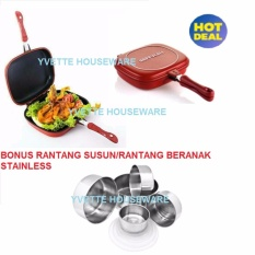 Double Pan/Happy Call/Panci Bolak Balik Serbaguna Jumbo 32 Cm