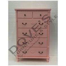 Dove's Furniture Rak Serbaguna Minimalis RS-025 - Laci Penyimpanan Multifungsi - pink