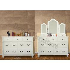 Dove's Furniture Rak Serbaguna Minimalis RS-024 - 1 Cermin Besar 2 Cermin Kecil - putih  FREE ONGKIR Jawa + Bali