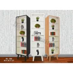 Dove's Furniture Rak Serbaguna RS-044 - rak kaca pajangan / rak koleksi - putih