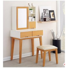 Dove's Furniture Meja Rias Minimalis MR-011 - 2 Laci meja + 1 Laci Box Mirror  - brown FREE ONGKIR Jawa + Bali