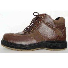 Diskon Dozzer Safety Shoes P206 Coklat Tua Akhir Tahun