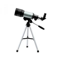 Dqq Teleskop Anak-anak Langit Bermata Satu Teleskop Astronomi Pemula dengan Tripod Hitam 70 Mm, 3X Barlow Lensa-Internasional
