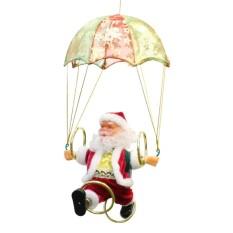 Dsstyles Lucu Parachuting Penggulung Hula Hooping Santa Klausa Gambar Lucu Musik Menyanyi Mainan Listrik Hari Natal Gantungan Dekorasi Ornamen Hadiah untuk anak-anak