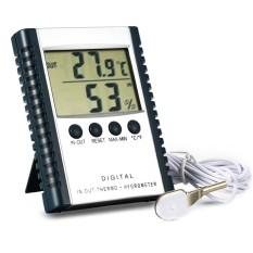 Dsstyles HC-520 Digital Dalam/Luar Ruangan Termometer Higrometer, Stickable dan Standable Hygrothermograph dengan Menyelidiki Peringatan Suhu Pengaturan dan Memori