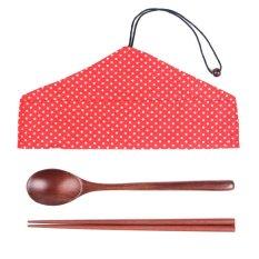 Beli Dt Shop Sujeo Kayu Set Coklat Tua With Pouch Merahpolkadot Cicil