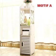 DT.Shop [Korean Style] Rak Penyimpanan Multifungsi Minimalis Putih - Motif Paris Modern size [80*25*22]