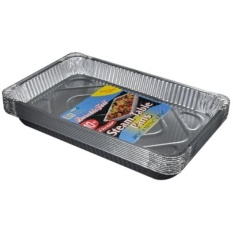 Tahan Lama Foil Aluminium Panci Meja Uap, Full-Size, Medium, 20-3/4