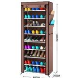Jual Dusk Cover Rak Sepatu Kain Portable Lemari Packing Dus 10 Susun 9 Rangka Grosir