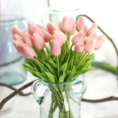 Eachgo 10 Pcs Fake Buatan Tulip Bunga Bouquet Rumah Pesta Pernikahan Dekorasi-Intl