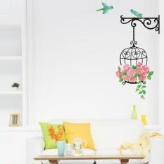 Spesifikasi Eachgo Bird Cage Wall Sticker Kartun Decal Diy Dekorasi Kamar Internasional Dan Harganya