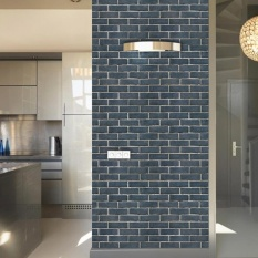 Toko Eachgo Vintage Brief Wall Bricks Pattern Self Adhesive Waterproof Wallpaper For Bedroom Living Room Kitchen Furniture Decor Intl Lengkap