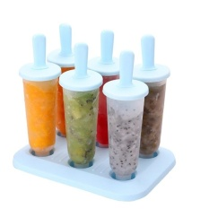Eason 6 Pcs Colorful Freezer Pop Popsicle Beku Cetakan Es Krim Yogurt Juice Maker Berkualitas Tinggi-Intl