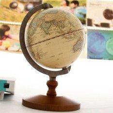 Eason Store 5-Inch Diameter Archaistic Dekorasi Desktop Globe dengan Kayu Dasar Laut Antik Handiwork
