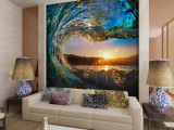 Harga Ramah Lingkungan 3D Besar Mural Water Rising Di Sunrise Untuk Tidur Sofa Tv Wallpaper Dan Spesifikasinya