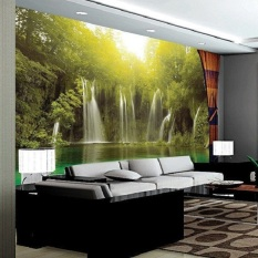 Ramah Lingkungan 3D Besar Mural Air Terjun Under The Sun Papel De Parede For Tidur Sofa TV Wallpaper Mural Wallpaper -Intl