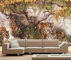 Ulasan Lengkap Tentang Ramah Lingkungan 3D Mural Tigers Latar Belakang Untuk Tidur Sofa Tv Mural Wallpaper