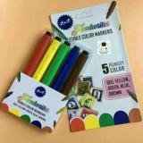 Obral Edible Pen Pewarna Makanan Puding Coklat Bk114 Foodwriter 5 Color Murah