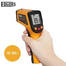 Edkors DS400-50-600C Non-kontak Tampilan LCD Laser IR Inframerah Digital C/F Seleksi Suhu Permukaan Termometer pyrometer Imager-Internasional