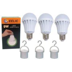 Toko Eelic 3Pcs E 9W Led 220V E27 Bohlam Intelligent Emergency Lampu Daruat Lithium Baterai 1200 Mah Pintar Multifungsi Dan Praktis Online Jawa Timur