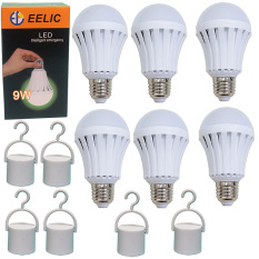 Toko Eelic 6Pcs E 9W Led 220V E27 Bohlam Intelligent Emergency Lampu Daruat Lithium Baterai 1200 Mah Pintar Multifungsi Dan Praktis Eelic Jawa Timur