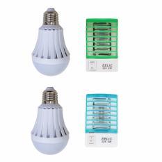 Top 10 Eelic Elc 2247W 2 Set 4 Pcs Hijau Biru Alat Elektronik Anti Nyamuk Mini Lampu Emergency 7 Watt Online