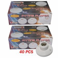 Jual Eelic Fig 881 40 Pcs Fitting Lampu Plafon Keramik Bulat Rumah Lampu Plafon Ukuran E27 Baru