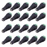 Promo Eelic Jpd Plastik 20 Pcs Jack Power Dc 2 1X5 5Mm Cctv 12V Female Power Plug To Scr*w Soket Cctv