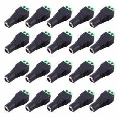 Toko Eelic Jpd Plastik 20 Pcs Jack Power Dc 2 1X5 5Mm Cctv 12V Female Power Plug To Scr*w Soket Cctv Lengkap Jawa Timur