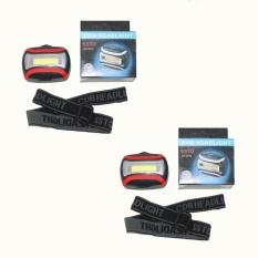 Jual Eelic Las C2016 2 Pcs Hitam Merah Lampu Senter Kepala Head Lamp Mini 9 Cob Serbaguna Satu Set