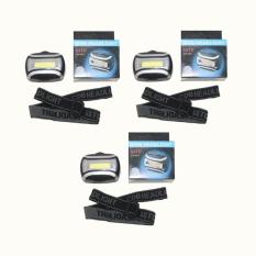 Cara Beli Eelic Las C2016 3 Pcs Hitam Lampu Senter Kepala Mini 9 Cob Serbaguna