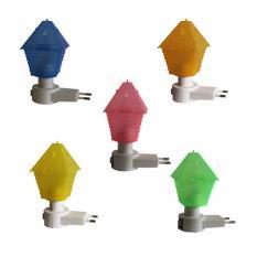 EELIC LAU-JM992 5 PCS ANEKA WARNA Mini Lamp Lampu Tidur Model Rumah Mungil Dimalam Hari