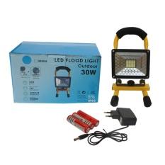 EELIC LAU-W804 Lampu Sorot LED 30 Watt Flood Light Emergency Handle Portable RECHARGEABLE