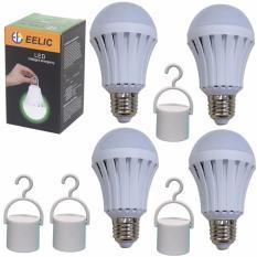 Beli Eelic Led Lau E7W Isi 4Pc 220V E27 Lampu Intelligent Emergency Darurat Online Murah