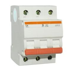EELIC MCB-M3F MCB Miniatur Circuit Breaker 3P 4A 230V AC Berkualitas