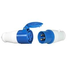 EELIC MOI-32A -023/223P3 BIRU Mobile Industrial Plugs 023 + Socket 223 32A - 6h AC 220V 250V PA66 Anti API