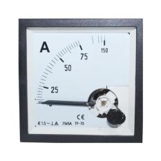 EELIC PAM-72 -A75-5 Panel AC Ampere Meter Analog Program 72 Standart Internasional Dengan Class Standart 1,5