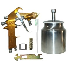 Jual Eelic Spg F75S Alat Spray Gun Air Brush Titanium Sprayer Jawa Timur Murah