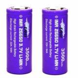 Jual Efest Purple Imr 26650 Flat Top Li Mn 2X Battery 3500Mah 3 7V 64A Ungu Murah