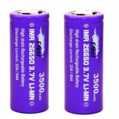 Review Toko Efest Purple Imr 26650 Flat Top Li Mn 2X Battery 3500Mah 3 7V 64A Ungu Online