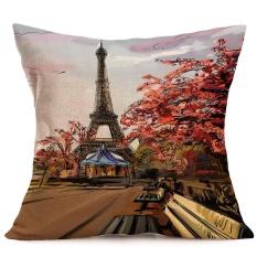Eiffel Tower Sofa Bed Rumah Dekorasi Festival Sarung Bantal-Internasional