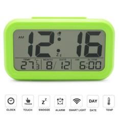 Eigia Jam Digital Liquid Crystal LED Alarm Waker Minimalis Watch Weeker Jam Meja Weker Waker JP9901 Desk Clock Unik Modern Design Digitime Ada Waktu Kalender Suhu Temperatur Mudah Digunakan